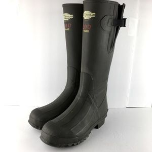 Field & Stream Tall Army Green Water Boots Size 10